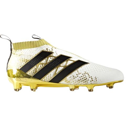 8a0d95bba Adidas Ace 16+ Purecontrol FG-White Black Gold Metallic AQ6357 ...