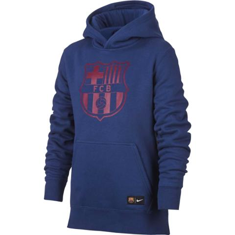 27130cdd3 Nike JR FC Barcellona Core Hoodie Sweatshirt 2017 18-Royal Blue ...